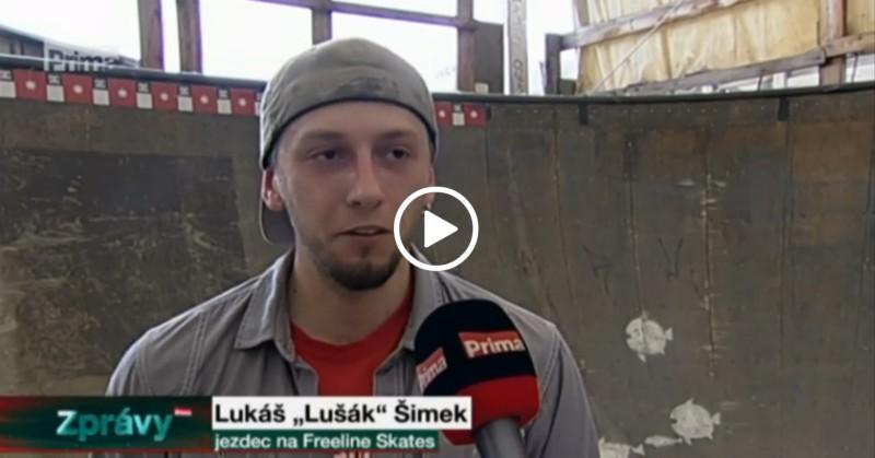 Zprávy FTV Prima Freeline skates Lukáš Šimek